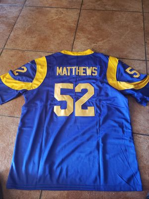LA RAMS CLAY MATTHEWS JERSEY SIZE SM n med n large n 2XL n 3XL 100% STITCHED for Sale in Colton, CA