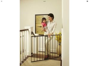 Black metal gate perfect for baby or pets or outdoor patio for Sale in Los Angeles, CA