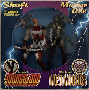 McFarlane Toys Shaft and Mother One Youngblood Wetworks Figures MIP for Sale in Garden Grove, CA
