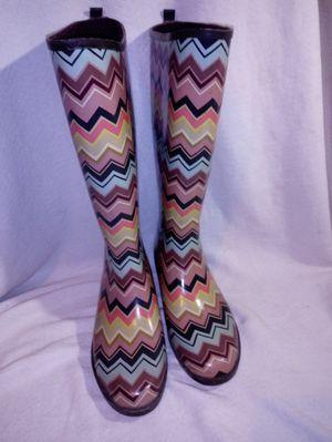 Missoni zig-zag multicolor rain boots size 8 for Sale in Frankfort, OH