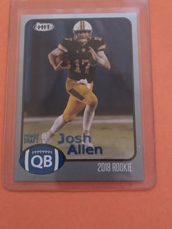 2018 Sage Hit Josh Allen Rookie Rare Silver Border Parallel Rookie Sp for Sale in Hudson,  NY