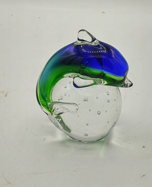 Glass dolphin paperweight for Sale in NO FORT MYERS, FL
