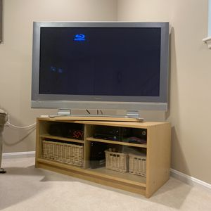 "Panasonic 50"" tv, swivel, and stand. for Sale in Germantown, MD"