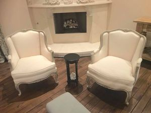 Antique French Bergere Chairs - pair for Sale in Houston, TX