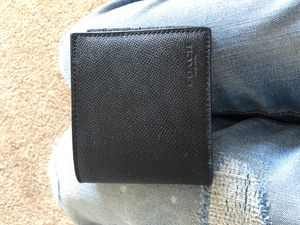 Brand new Men's Coach wallet black leather! Designer LV Gucci Coach for Sale in Indianapolis, IN