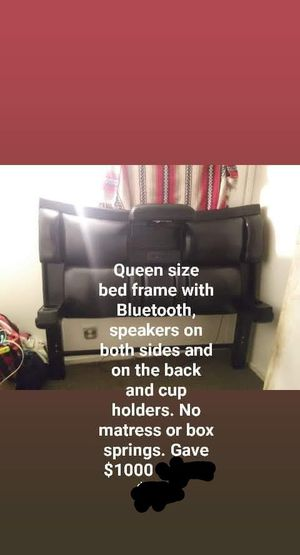 Queen size Bed Frame with Bluetooth for Sale in STNDG STONE, WV