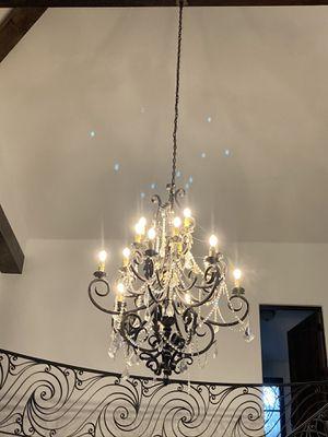 Lighting Chandelier Antique Mediterranean crystal for Sale in Los Angeles, CA