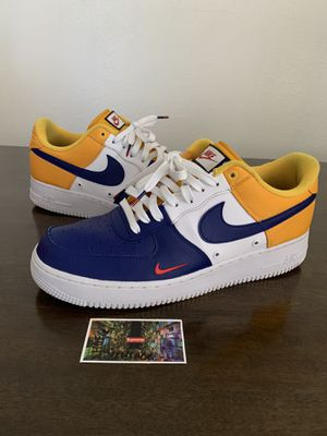 Nike Air Force 1 Mini Swoosh Barcelona Tri Color 823511-404 2017 Size 12 RARE for Sale in Cleburne, TX