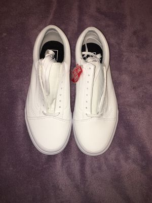White leather vans for Sale in Duluth, MN