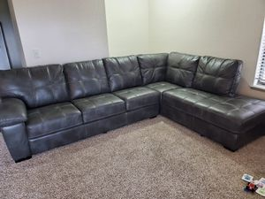 SECTIONAL COUCH - PU LEATHER ( TWO TONE COLOR ) for Sale in Irving, TX