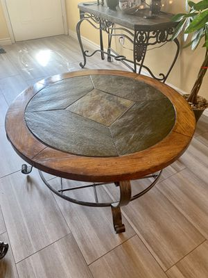 Coffee Table Slate and Metal for Sale in Las Vegas, NV