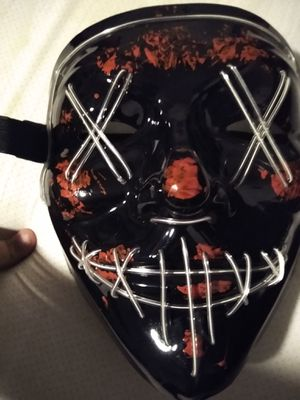 Cyan black purge mask with blood for Sale in Fresno, CA