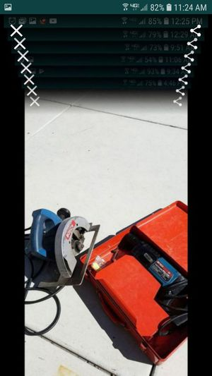 Bosch rotary hammer drill bulldog and circular saw both for $175 for Sale in Tracy, CA