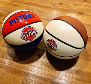 SET OF 2 Detroit Pistons Signature Autograph ready Basketballs for Sale in San Diego, CA