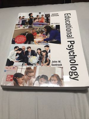 Educational psychology college textbook 6th edition by John Santrock for Sale in Parma, OH