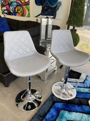 Modern grey designer bar stools set of 2 for Sale in Pompano Beach, FL