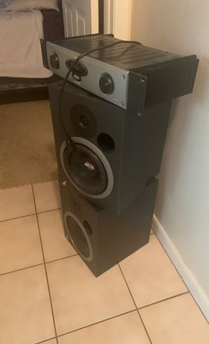 Event 20/20 passive monitors including Alesis RA300 amp for Sale in Tampa, FL