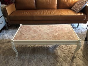 Pink marble coffee table for Sale in Brooklyn, NY