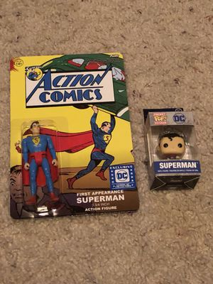 Funko DC Superman Action Figure And Pop Keychain Brand New for Sale in Fresno, CA