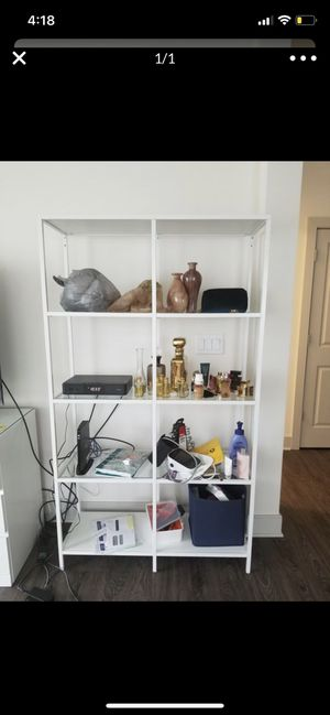 White Shelving unit/bookcase for Sale in Glenburn, ME