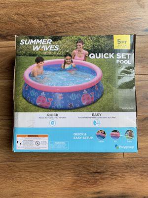 Summer Waves 5ft pool for Sale in San Antonio, TX