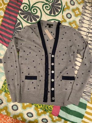 J Crew Cardigan with embroidered stars for Sale in Detroit, MI