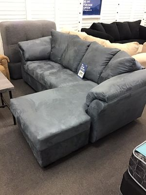 New Ashley's sofa chaise $40 down take home same day delivery is available for Sale in Mitchell, IL