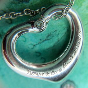 Tiffany &Co Double Diamond Open Heart Pendant for Sale in Keller, TX