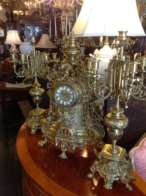 Clock and candle holders for Sale in Miami, FL