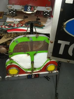 New Recycled Metal Art 3d Volkswagen Bug Car Bus for Sale in Ashland City, TN
