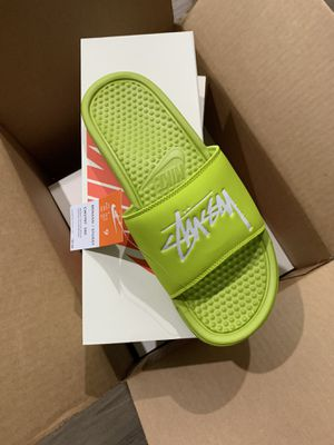 New! Stussy x Nike Benassi Slide size 9 for Sale in Hayward, CA