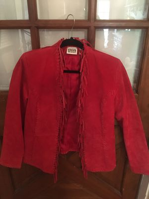 Chico's red fringed suede leather jacket for Sale in Longwood, FL