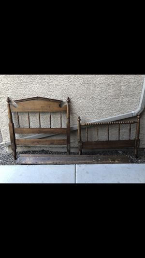 Pair of solid wood twin bed frames for Sale in Phoenix, AZ