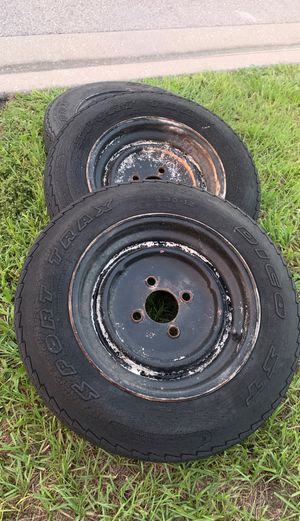 "FREE !!!3 12"" trailer rims for Sale in Cypress Gardens, FL"