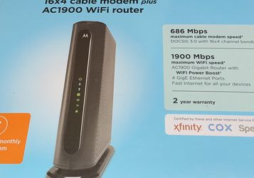 Motorola MG7550 16x4 Cable Modem for Sale in Las Vegas,  NV