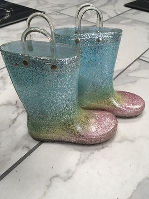 Glitter rain boots size 10 for Sale in Portsmouth, VA