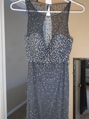 Grey long elegant dress size 0 for Sale in San Diego, CA