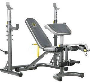Golds XRS 20 Olympic Workout Bench With Squat Rack for Sale in Menifee, CA