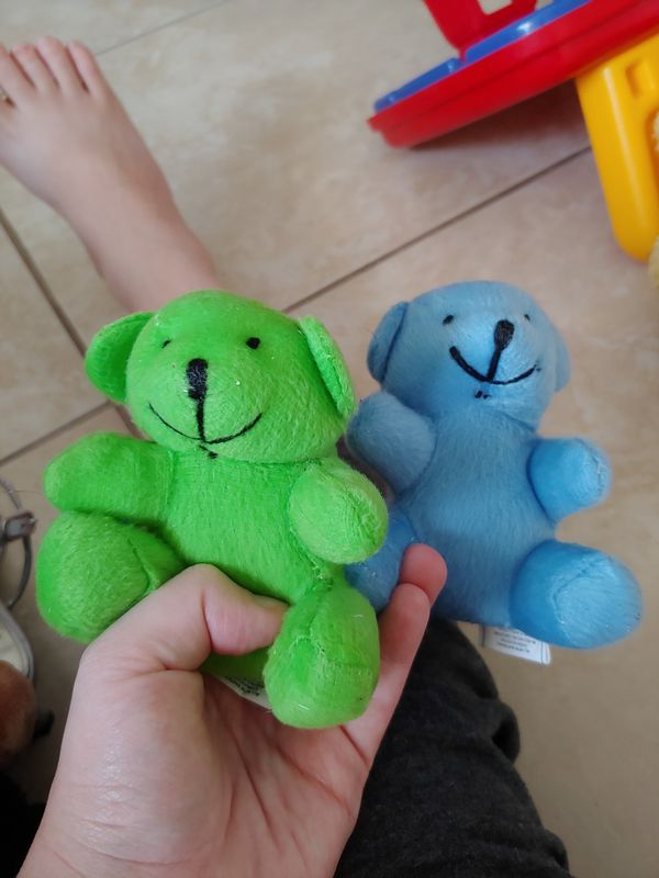 Two Small Stuffed Bears