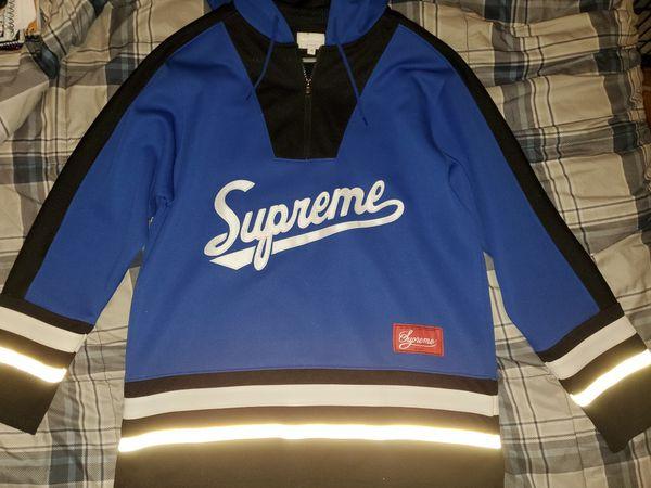 Supreme Hockey Jersey Hoodie Pullover
