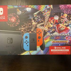 Nintendo Switch Mario Kart Deluxe 8 Bundle for Sale in Houston, TX