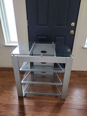 Glass-Metal TV/Sound syst. stand for Sale in Tacoma, WA
