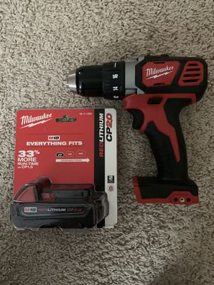 Milwaukee M18 18-Volt Lithium-Ion Cordless 1/2 in. Drill Driver (Tool-Only and 2ah battery only) for Sale in Naperville, IL
