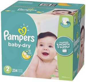 Pampers diapers size 2 Baby Dry for Sale in Downey, CA