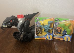 Imaginext Jurassic World Park Workers and PTERODACTYL Figures Playset NEW * Turn the Power Pad to send the dinosaur stomping forward * Walking Indor for Sale in Chula Vista, CA