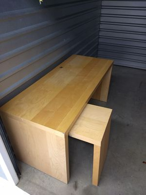Ikea desk w/ pullout section for Sale in Alexandria, VA