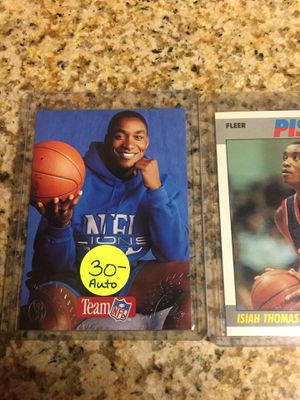 Baseball , Basketball cards Isiah Thomas Auto / Insert $12 for Sale in Rolling Hills Estates, CA
