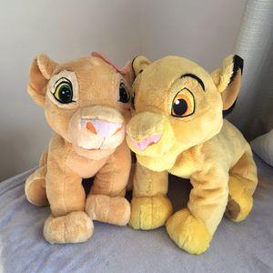 Lion King Disney Simba Nala Plush Animals for Sale in Hampton, VA