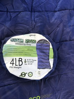 Eco gear Green River Sleeping Bag for Sale in Modesto, CA