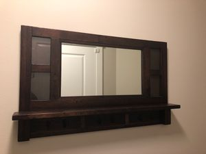 Pottery Barn Wall Mirror with Hooks for Sale in Mill Creek, WA